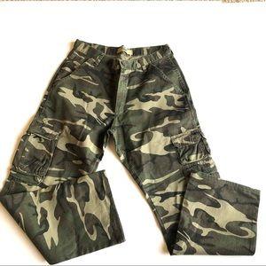 Men's wrangler army fatigues cargo pants